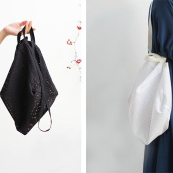 New! 2way Mesh bag/シロ・クロ