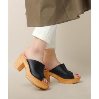 (Fashion Letter/ファッションレター)チャンキーヒール サボサンダル/レディース TYPE1・ブラック