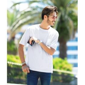 (JIGGYS SHOP/ジギーズショップ)日本製 ポケT×タンクトップアンサンブル/Tシャツ メンズ ティーシャツ 半袖 タンクトップ タンク レイヤード クルーネック/メンズ ホワイト 送料無料