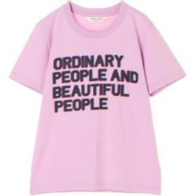 beautiful people ウォッシャブル コンパクトコットンピープルロゴTシャツ Tシャツ・カットソー,パープル