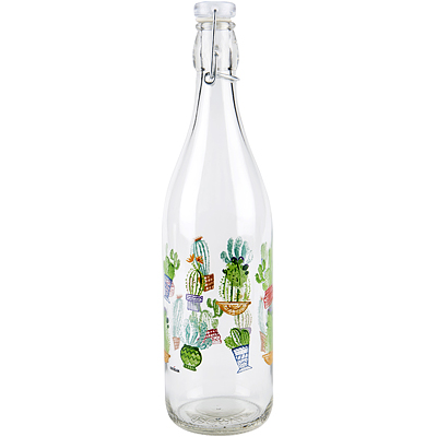《EXCELSA》扣式密封玻璃水瓶(仙人掌1L)