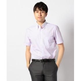 (enter G/エンタージー)【日本製】半袖クレリックシャツ/メンズ ピンク系1 送料無料