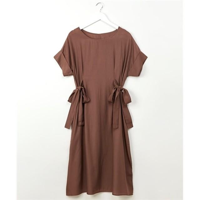 サイドリボンロングワンピース (ワンピース),dress