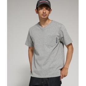 【30%OFF】 ベースステーション Tシャツ メンズ Vネック WEB限定 メンズ グレー(012) 02(M) 【BASE STATION】 【タイムセール開催中】