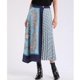 【スーペリアクローゼット/SUPERIOR CLOSET】 スカーフ柄ラッププリーツスカート
