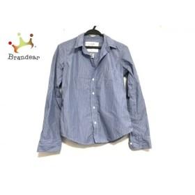 フランク&アイリーン 長袖シャツ サイズXS メンズ 美品 ブルー×ライトブルー ストライプ 新着 20190711