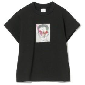 (BEAMS WOMEN/ビームス ウィメン)Name. × Ray BEAMS/別注 グラフィック ペイント Tシャツ/レディース BLACK 送料無料