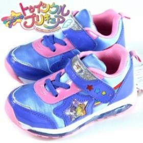 スター トゥインクル プリキュア スニーカー キッズ シューズ 人気 子供 女の子 光る靴 子供靴 運動靴 Y_KO 7519 ラベンダー 190710