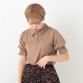 ポロシャツ - kutir 【kutir】袖ギャザーポロシャツ