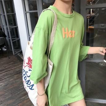 Tシャツ - G & L Style レディース 半袖 トップス カットソー シンプル カジュアル 半袖Tシャツ HerフロントロゴTシャツ 6557