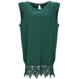 《セール開催中》CYCLE レディース ミニワンピース&ドレス グリーン XS コットン 96% / ポリウレタン 4%