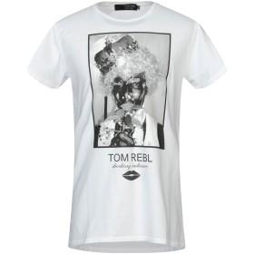 《セール開催中》TOM REBL メンズ T シャツ ホワイト L コットン 100%