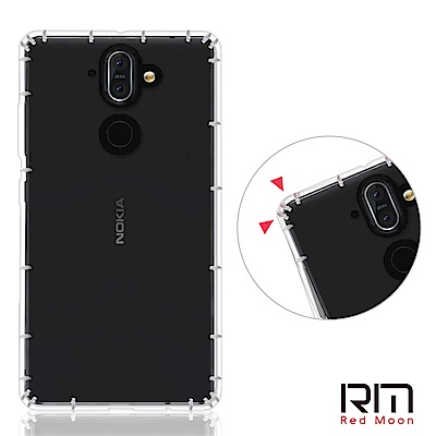 RedMoon Nokia 8 Sirocco 防摔透明TPU手機軟殼