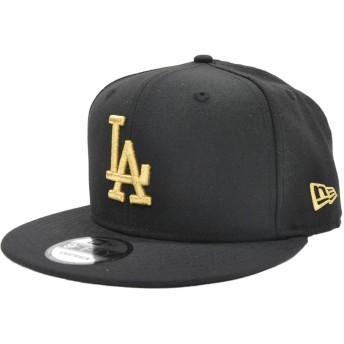 キャップ - stylise ニューエラ キャップ ◆ NEW ERA 9FIFTY ロサンゼルス・ドジャース 4カラー メンズ 帽子 ロゴ 刺繍 ブラックホワイト ゴールド LA 定番