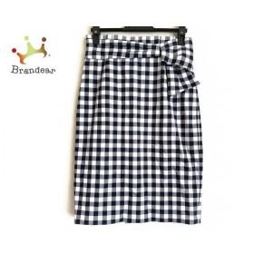 ジャスグリッティー スカート サイズ1 S レディース 美品 黒×アイボリー×ネイビー チェック柄 新着 20190711