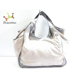 レイジースーザン LAZY SUSAN トートバッグ ベージュ×シルバー 化学繊維×レザー   スペシャル特価 20191013