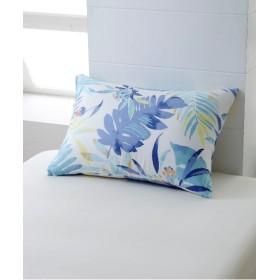 テンセル混ボタニカル柄の枕カバー(ファスナータイプ)(キャンプ) 枕カバー・ピローパッド