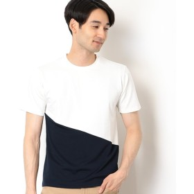 [マルイ] バイカラーポンチTシャツ/メンズメルローズ(MEN'S MELROSE)