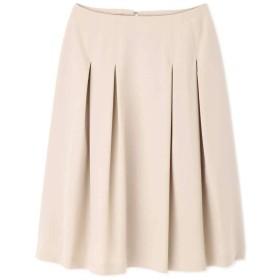 【公式/NATURAL BEAUTY BASIC】[洗える]ボックスタックフレアスカート/女性/スカート/ベージュ/サイズ:L/(表生地)ポリエステル 94% ポリウレタン 6%(裏生地)ポリエステル 100%