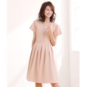 グログランテープ使いフィットアンドフレアワンピース (ワンピース),dress