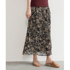 OZOC オゾック 花柄プリーツスカート