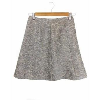 【中古】アナイ ANAYI スカート ミニ 台形 ツイード 36 銀 シルバー /KI7 レディース