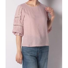(eversince/エバーシンス)袖レースシャツ/レディース ピンク