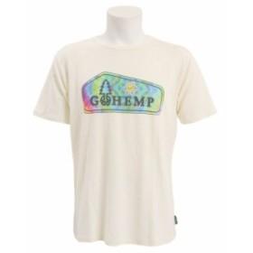 ゴーヘンプ ロゴ 半袖Tシャツ GHC4200DD115 WHT (Men's)
