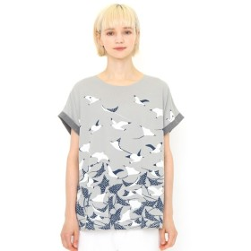 [マルイ]【セール】【レディース】バックボタンTシャツ/マンタ/グラニフ(graniph)