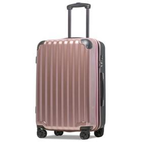 (tavivako/タビバコ)【JP-Design】スーツケース LMサイズ 静音8輪キャスター 軽量 大容量 拡張 TSAロック 受託手荷物無料 キャリーバッグ キャリーケース/ユニセックス ローズ 送料無料