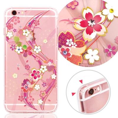 YOURS APPLE iPhone6s Plus 奧地利彩鑽防摔手機殼-日本櫻