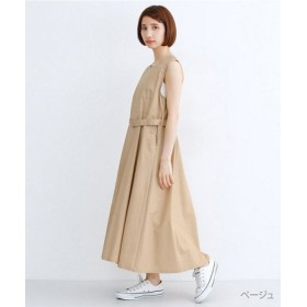 (merlot/メルロー)スクエアネックバックボタンジャンパースカート/レディース ベージュ
