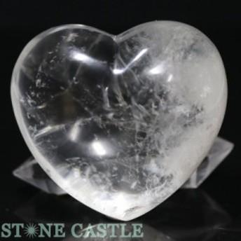 ☆置石一点物☆【天然石 置き石】ハート型 天然水晶 No.03