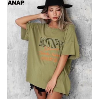 【セール開催中】ANAP(アナップ)カットオフバックオープンTシャツ