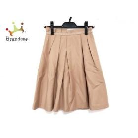 アプワイザーリッシェ スカート サイズ0 XS レディース 新品同様 ライトブラウン プリーツ 新着 20190711