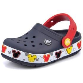 crocs クロックス CROCBAND MICKY FUN LAB LIGHTS K【光る靴】 キッズサンダル(クロックバンドミッキーファンラブライツキッズ) 204994 410 ネイビー ボーイズ