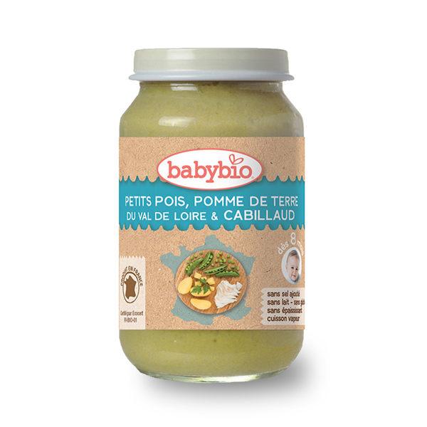 法國Babybio 生機鮮蔬鱈魚泥200g