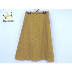 ホコモモラ JOCOMOMOLA スカート サイズ38 L レディース 美品 イエロー×ライトブラウン 刺繍 新着 20190711