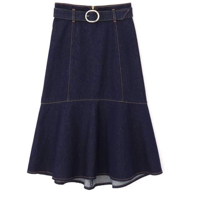 PROPORTION BODY DRESSING マーメイドミモレデニムスカート