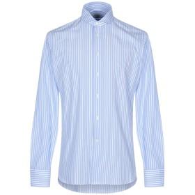 《セール開催中》BRANCACCIO C. メンズ シャツ スカイブルー 38 コットン 100%