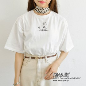 Tシャツ - pairpair【WOMEN】 【リンクコーデ専門ブランド/ペアペア】スヌーピープリントゆるTシャツ(男女兼用)