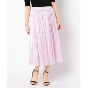 (NOLLEY'S/ノーリーズ)【WEB限定色】パールサテンギャザースカート/レディース ベビーピンク