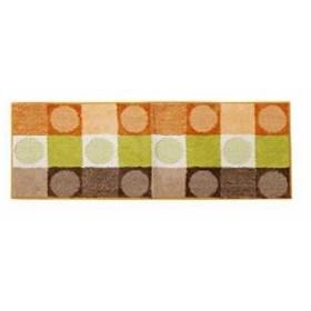 イケヒコ キッチンマット 洗える 『チェロ』 約45× 120cm 滑りにくい加工[3424219](オレンジ, 45×120cm 1枚)