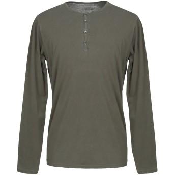 《9/20まで! 限定セール開催中》MAJESTIC FILATURES メンズ T シャツ ミリタリーグリーン L コットン 94% / ポリウレタン 6%