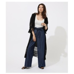 (AZUL BY MOUSSY/アズールバイマウジー)LACE FRINGE GOWN/レディース BLK