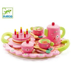 ままごと 木製 リリローズパーティー おもちゃ 知育玩具 ジェコ DJECO ( おままごと セット お茶会 お菓子 ごっこ 遊び )