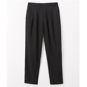通勤にも使える♪ 薄軽ストレッチ素材タックパンツ (レディースパンツ),pants