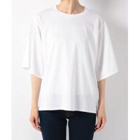 (ZUCCa/ズッカ)スタッズTシャツ/レディース ホワイト