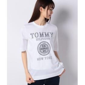(TOMMY HILFIGER/トミーヒルフィガー)New YorkロゴTシャツ/レディース ホワイト