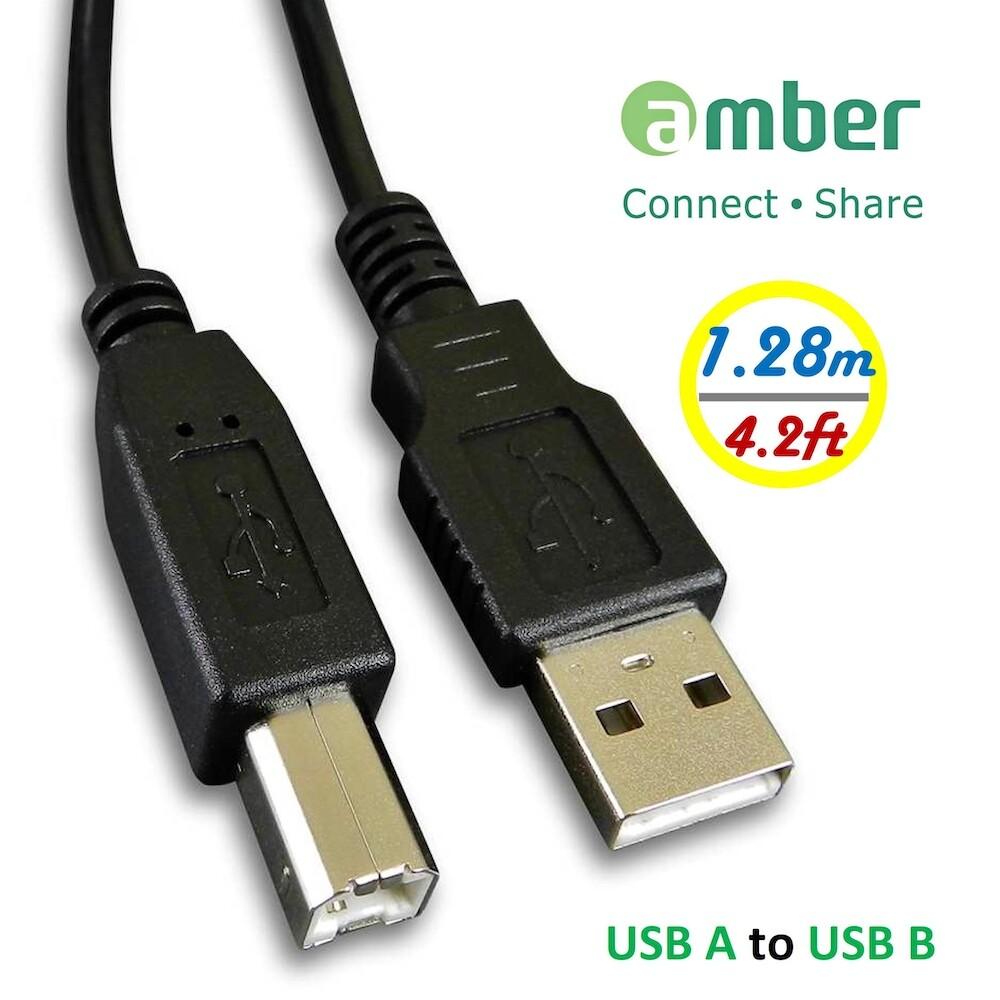 amber usb印表機/事務機傳輸線材_3n無氧銅(ofc) usb-a公 x usb b-公